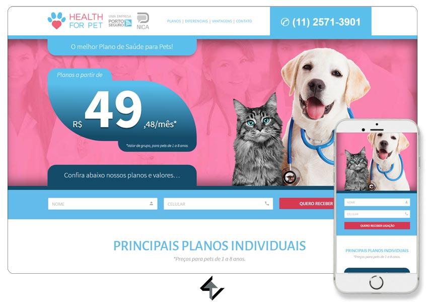 Site - SAÚDE FOR PET